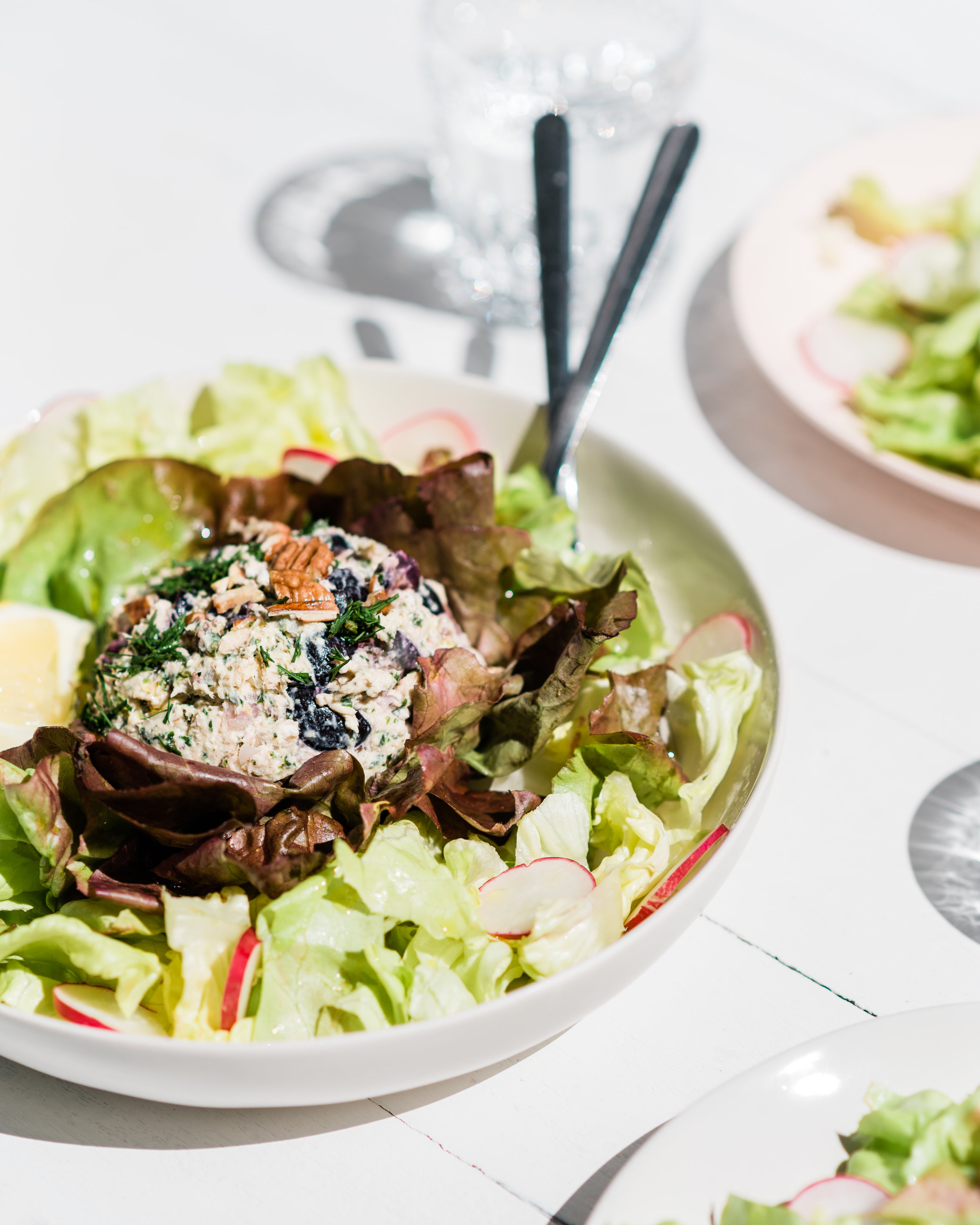GRK Tuna Salad on a bed of Butter Lettuce and shredded Little Gem.