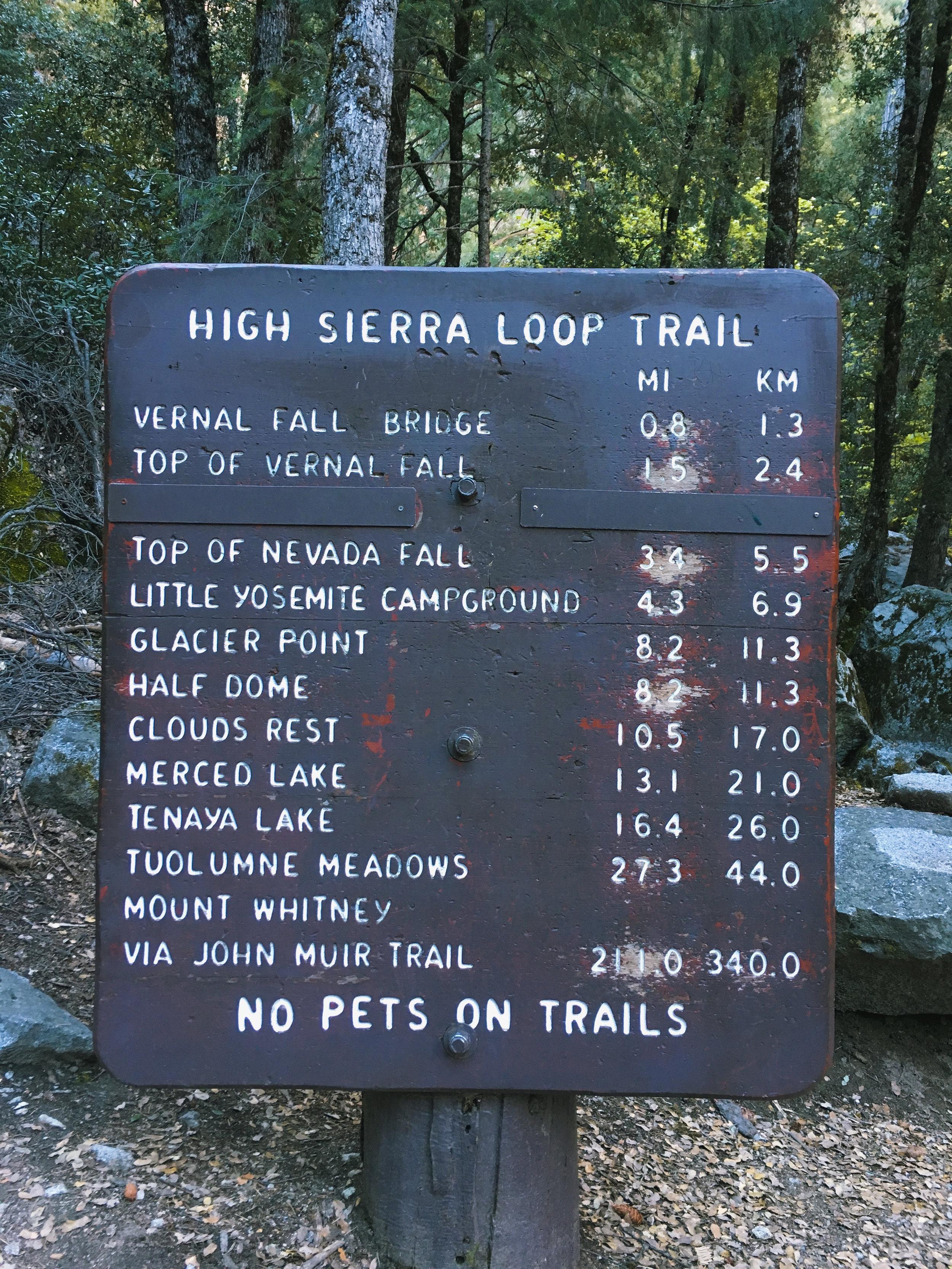 The John Muir Trail Northern Terminus