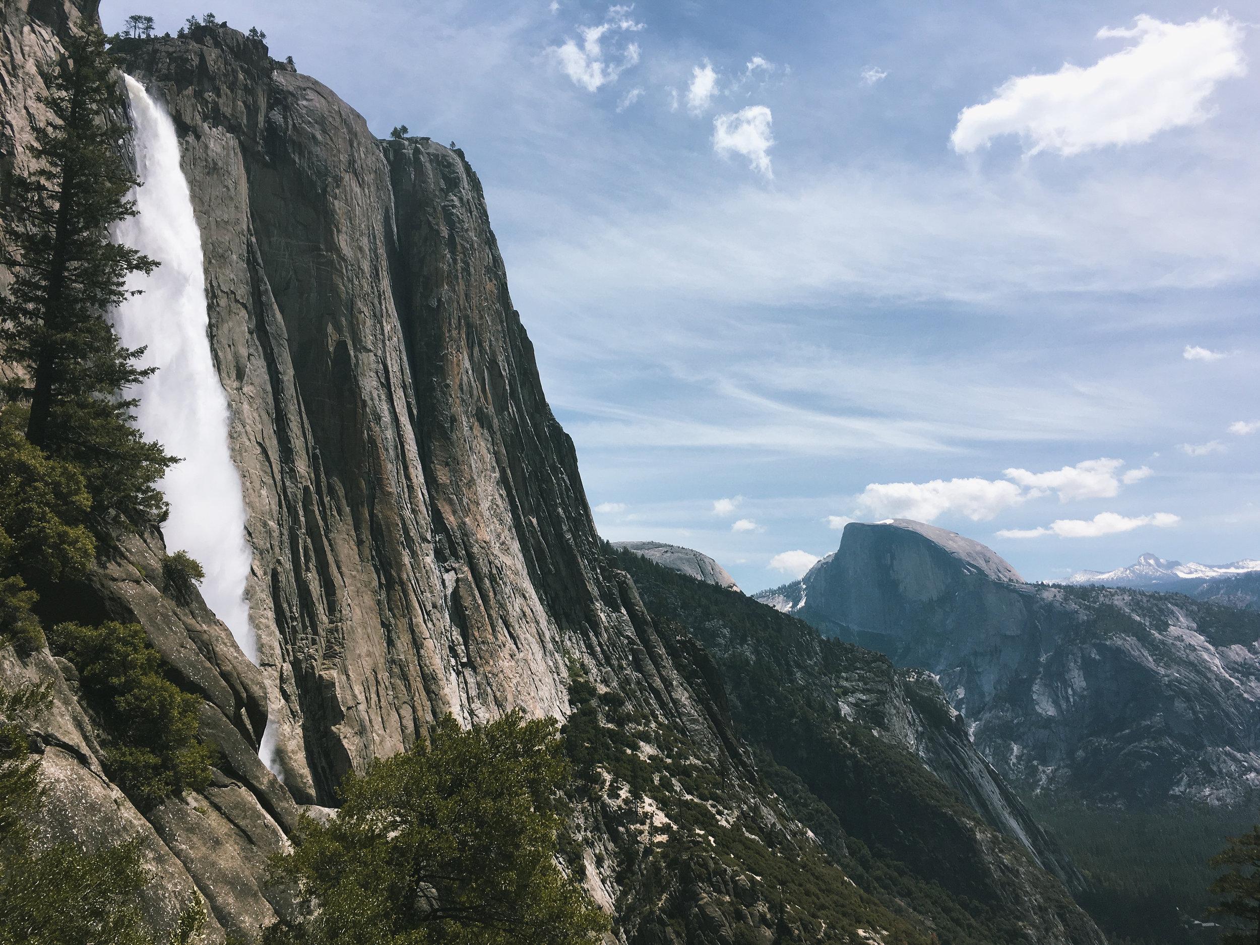 Yosemite Falls & Half Dome from Upper Yosemite Falls trail
