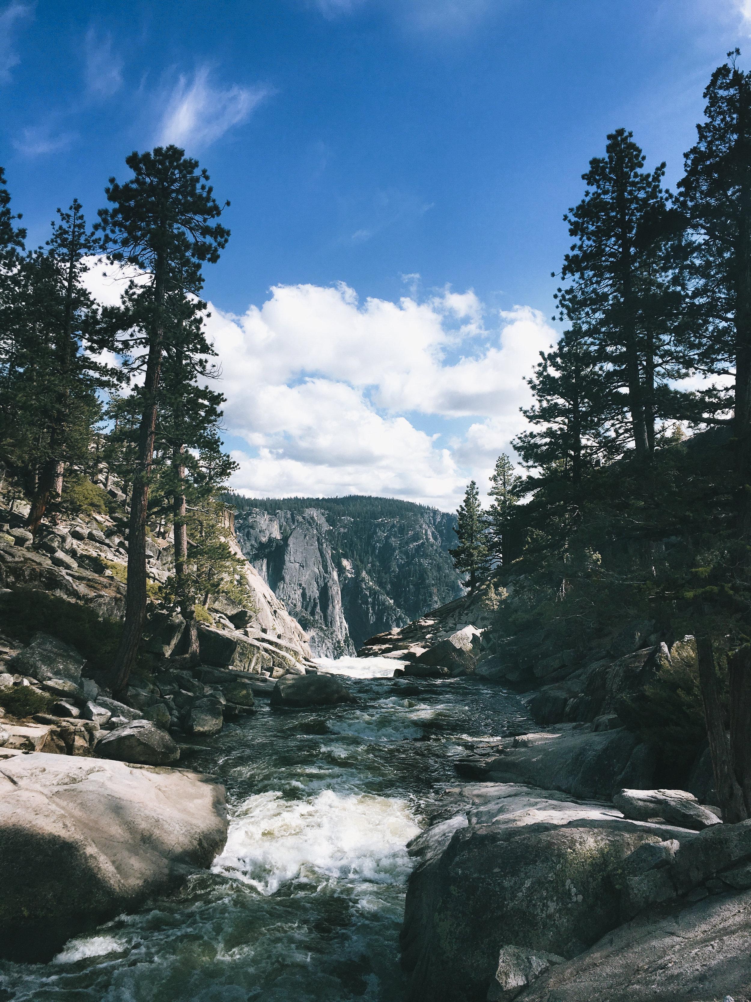 Top of Upper Yosemite Falls