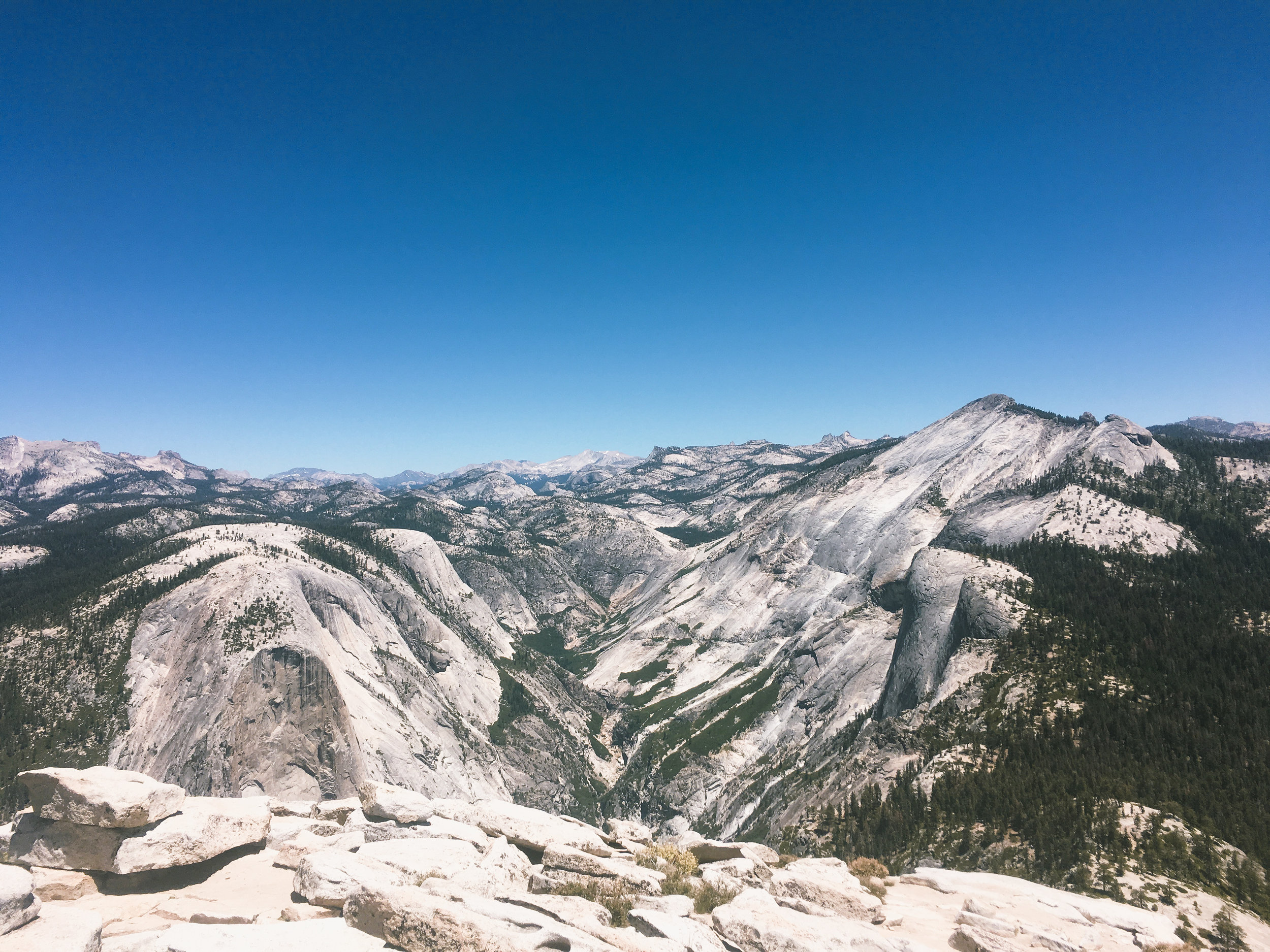 Tenaya Canyon from the top of Half Dome