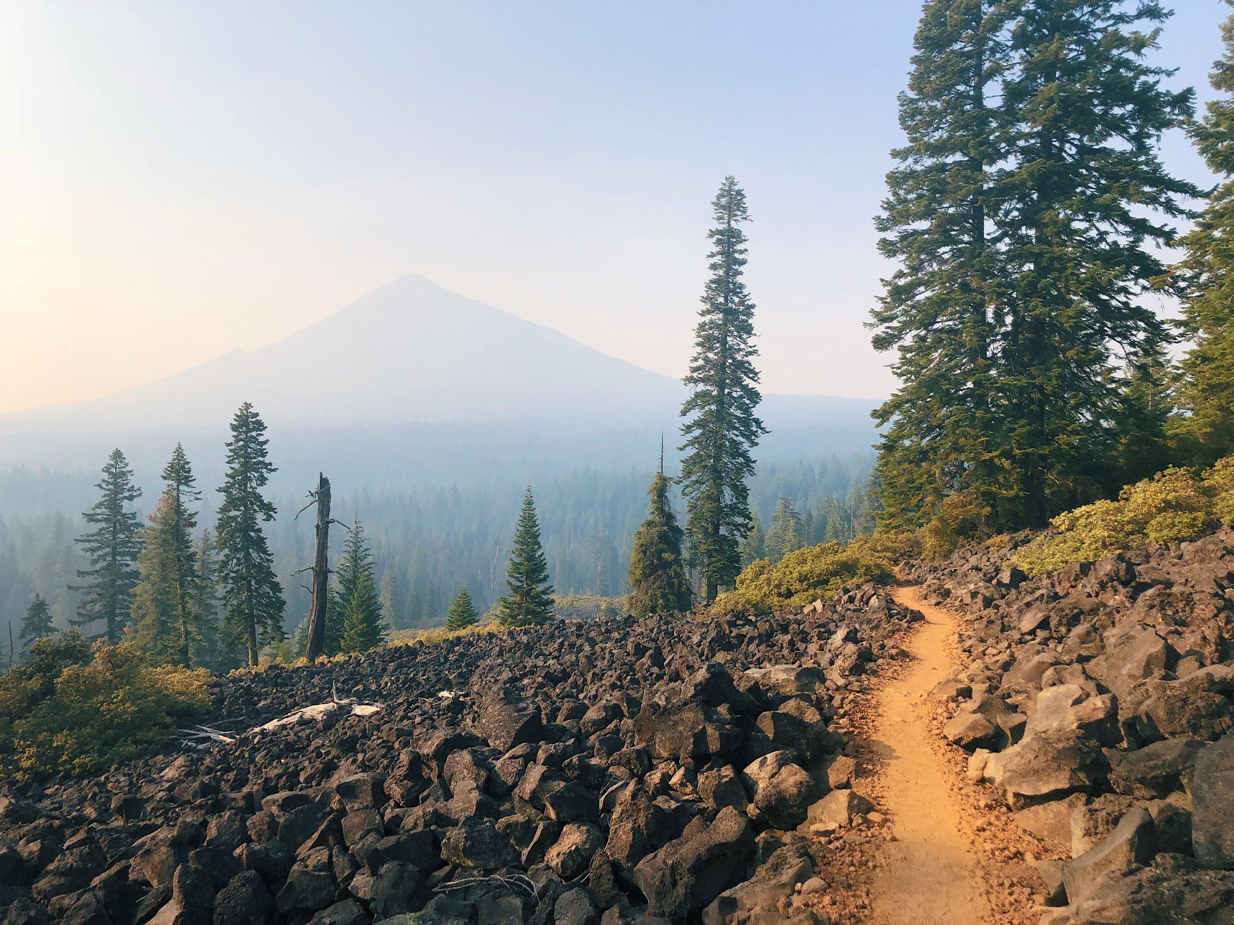 Mt. McLoughlin through the smoke