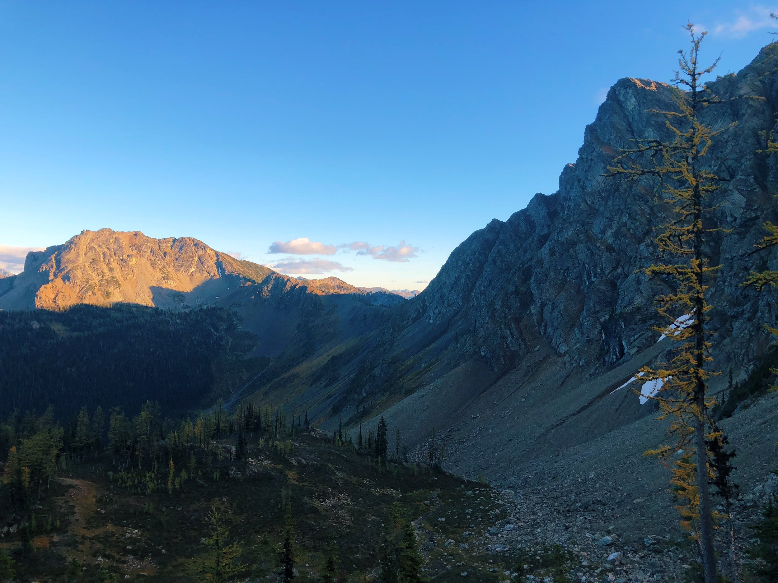 Views from my last campsite at Woody Pass