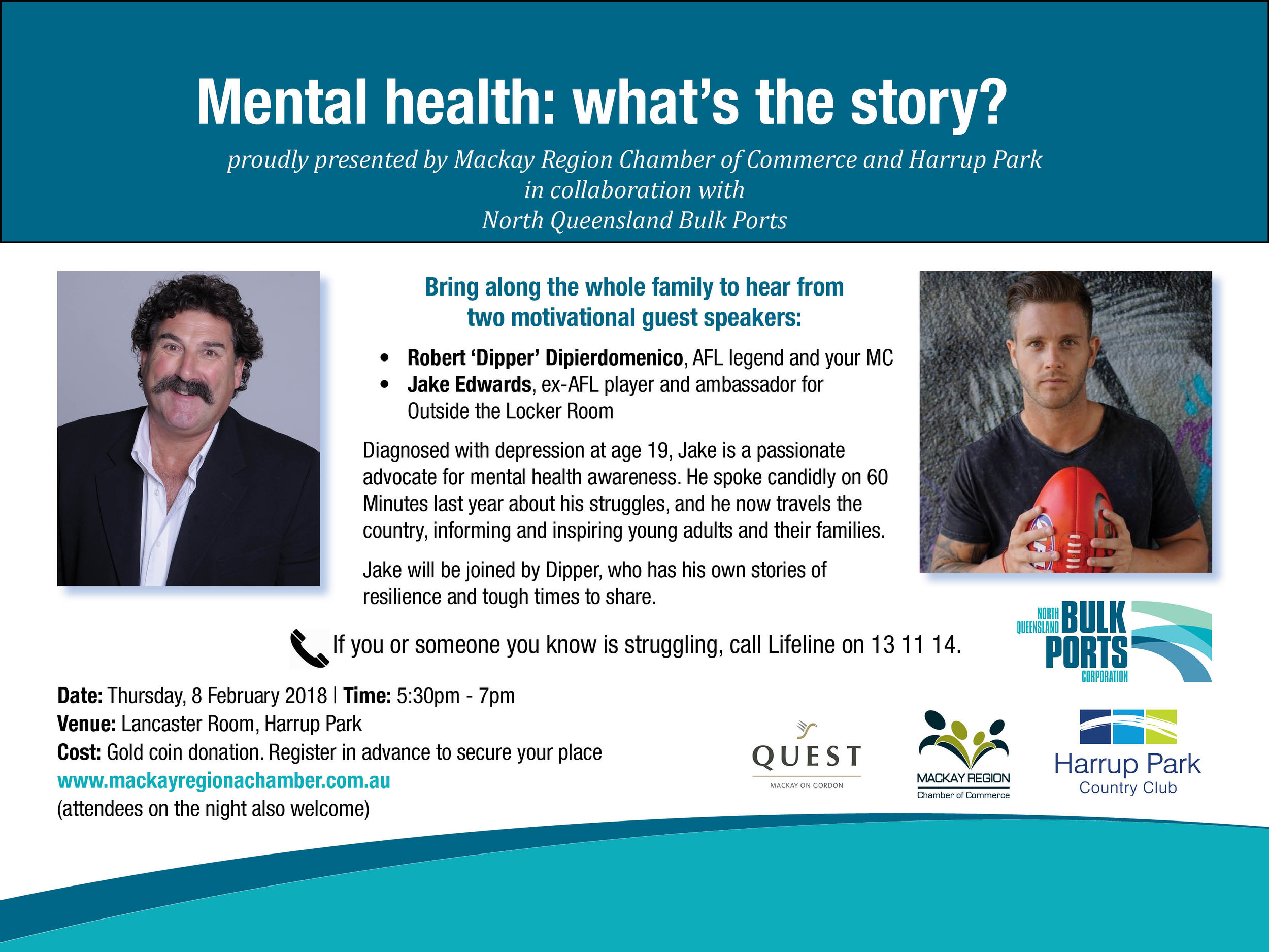 Mental health event invite - Jake Edwards and Dipper - Mackay 530pm 8 Feb 2018 v2.jpg
