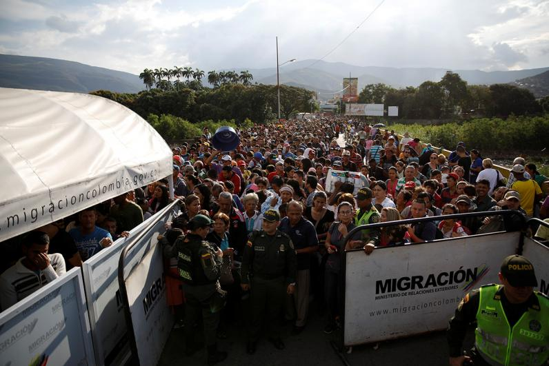 The border between Venezuela and Colombia. Photo from Newsweek
