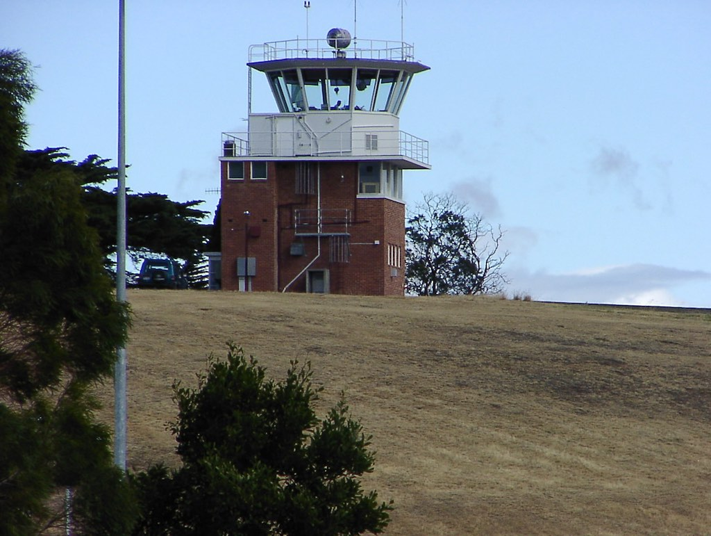 Hobart's control tower is a showpiece of midcentury design but no longer appropriate to the airport's needs