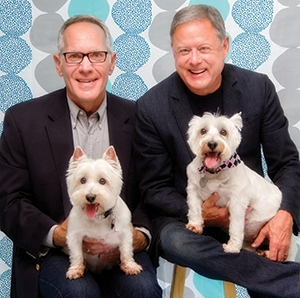 """Tulsa People - Double Take - John Orsulak and Patrick Hobbs were Westie parents long before their own hair turned white.When their first pair of Westies, Phyfe and J.P., passed away, """"There was kind of a hole,"""" Orsulak says. """"You didn't hear the pitter-patter of paws. Nobody greeting you at the door.""""So, the couple contacted Oklahoma Westie Rescue, a nonprofit that takes in West Highland White Terriers (Westies) and similar breeds — terrier mixes, Malteses, Yorkies and more — who are unwanted, abandoned or rescued from puppy mills."""