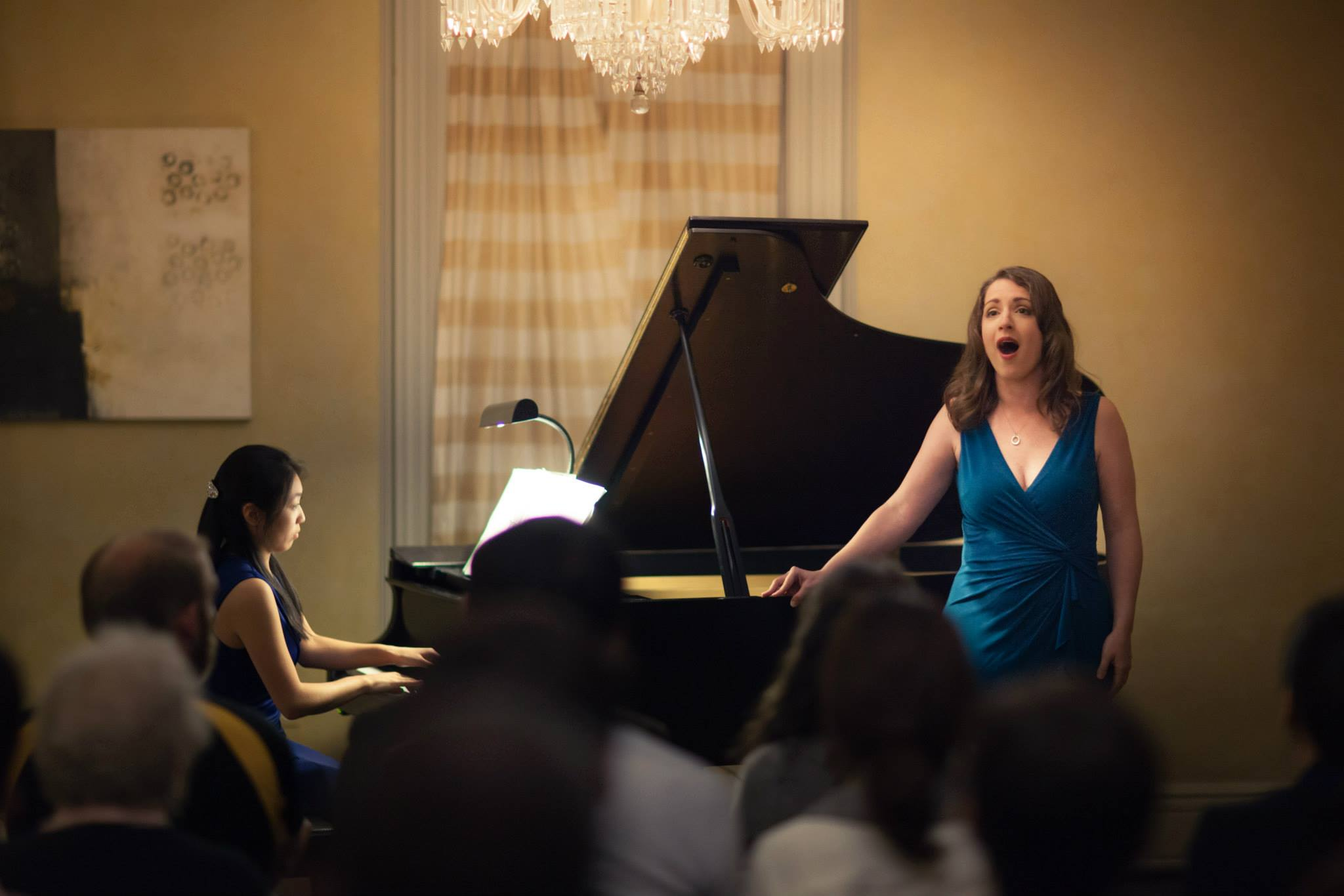 Ms. Worrell performs with pianist Stephanie Mao at the inaugural performance of the Boston Art Song Society.