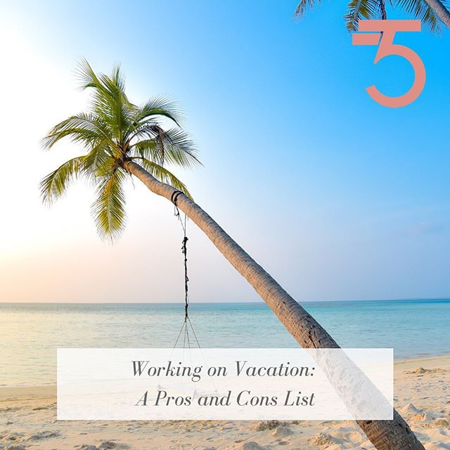 "It's that time of the year, VACATION! Sunny beaches, shopping, exploring, in other words the good life ☀️. But the question arises, to bring or not to bring.... Go check out "" Working on Vacation: A Pro and Con list"", link in bio!  #thrivetillfive #thrive #womenwhowork #vacation #summer #work#worklife #sun #life #slay"