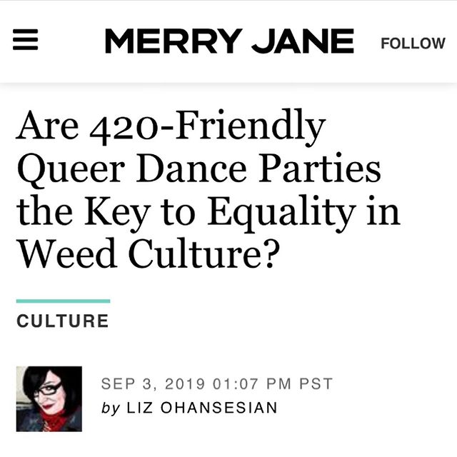 Thank you @lizohanesian !! 🙏 New article out now on @merryjane 🌿 link in bio . . . . . #420queer #merryjane #lgbtq🌈 #queer #stoner #420events #cannabiscommunity #trans #nonbinary #weed🍁 #queerstoner #cannabissociety #highsociety #weedculture #mmj #news #420friendly #weedculture #queerdanceparty #losangeles