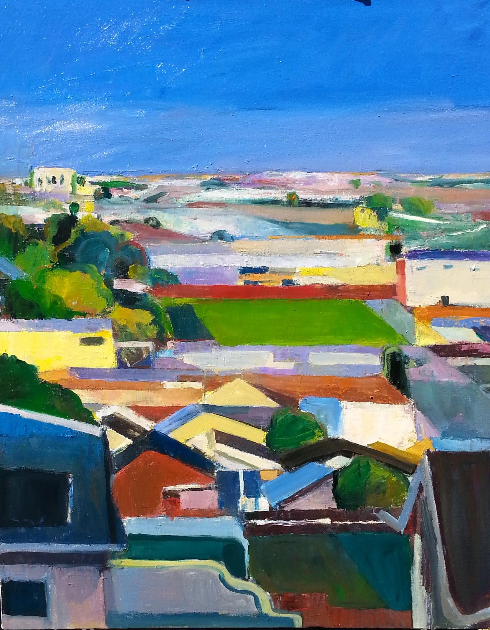 """Lawlor Street   2016-18  oil on canvas  30"""" x 24""""   $2000"""