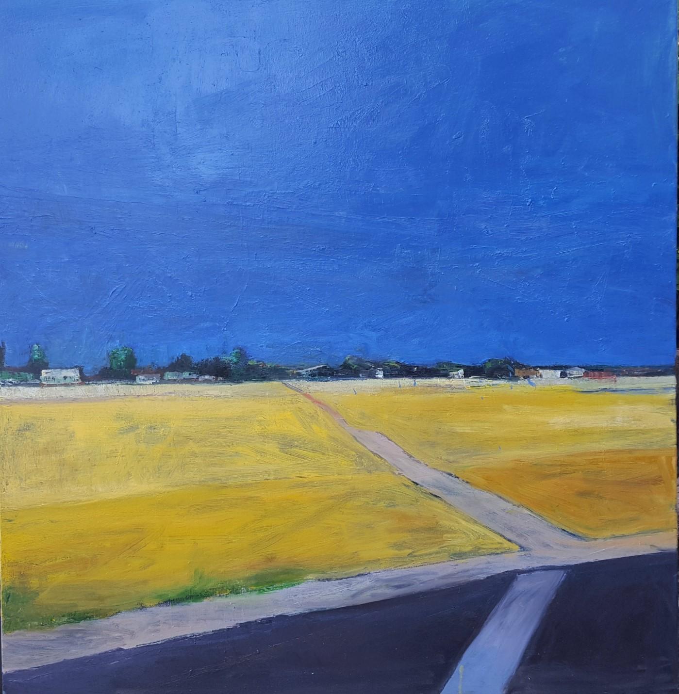 "Planada     2019  oil on canvas  46"" x 44""  $4000"
