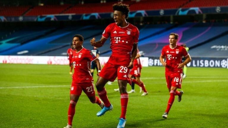 Coman celebra el gol que les dio como recompensa el máximo titulo de Europa