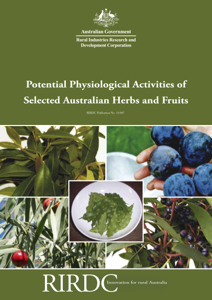 Potential Physiological Activities of Selected Australian Herbs and Fruits