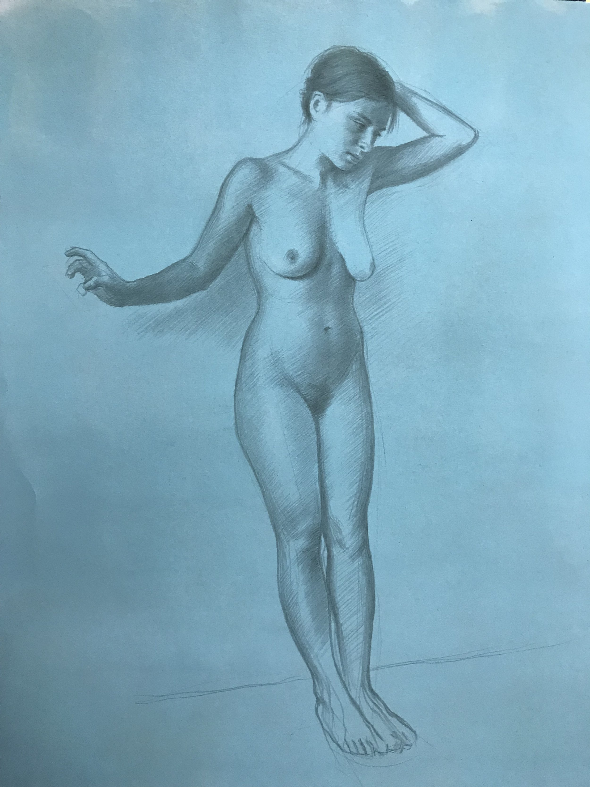 Silverpoint on prepared paper