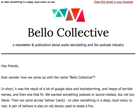 Bello #42: Handing over the reins (plus podcast recs, The Atlantic, and fall lineups)