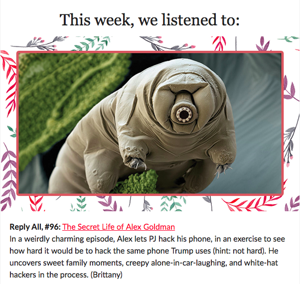 #34: Culture wars, giant space tardigrades, phone tapping, and b-sides