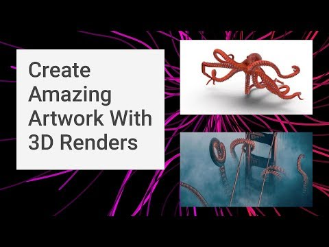 Using 3D Renders for 2D Graphic Designs & Artwork: Creative Inspiration