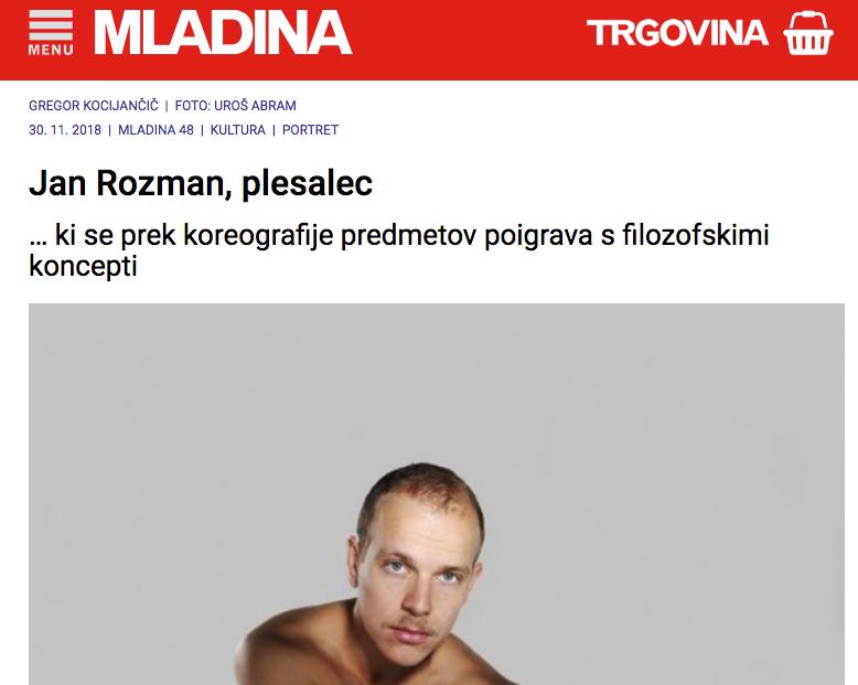 Jan Rozman Portrait Mladina