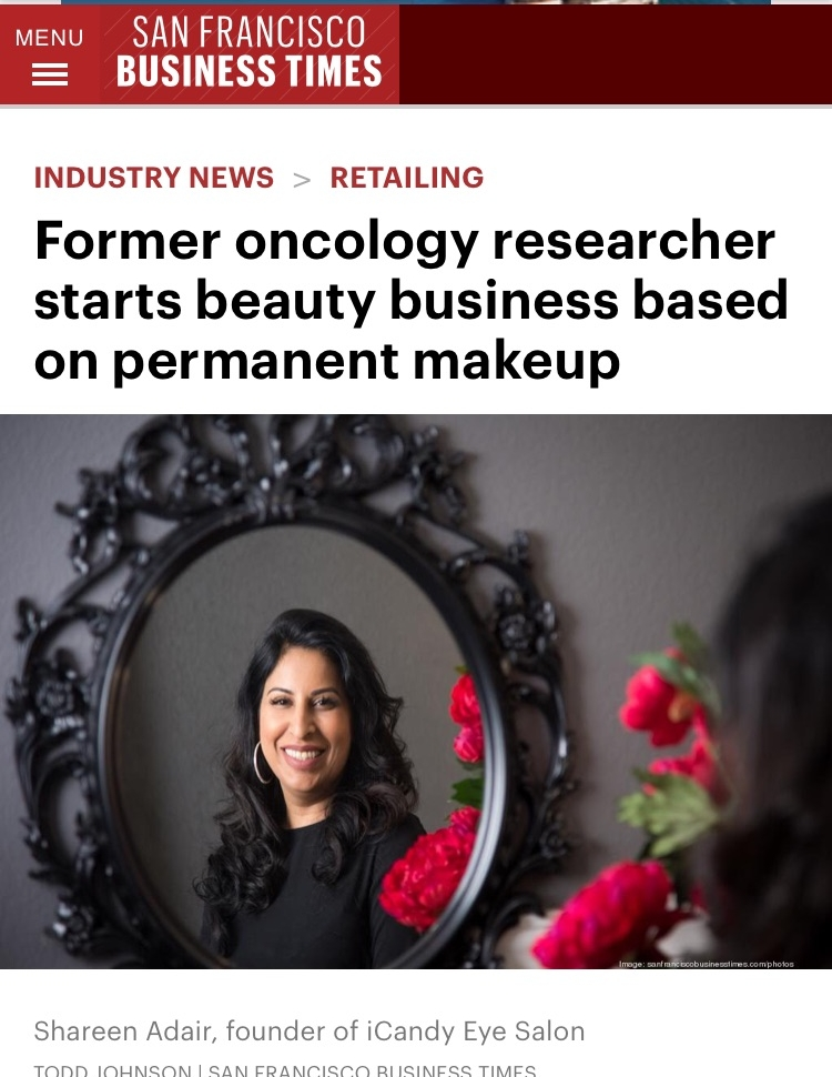 SF Business Times Feature Shareen Adair's business models