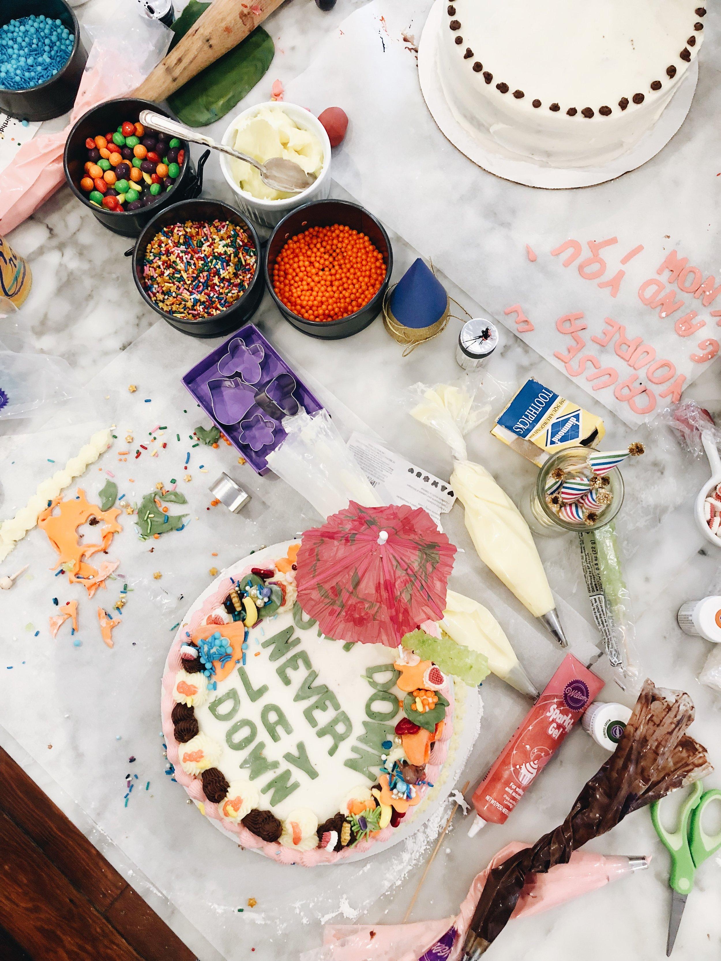 drake on cake food styling