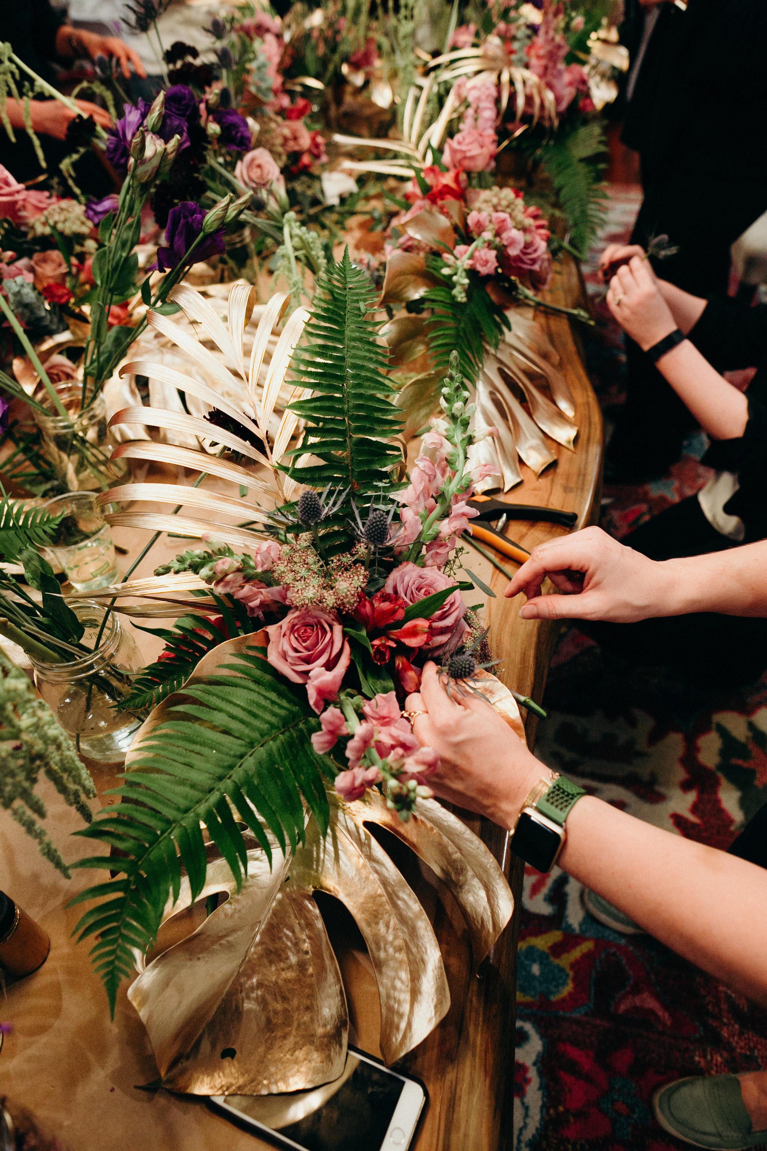 mardi gras centerpiece ideas