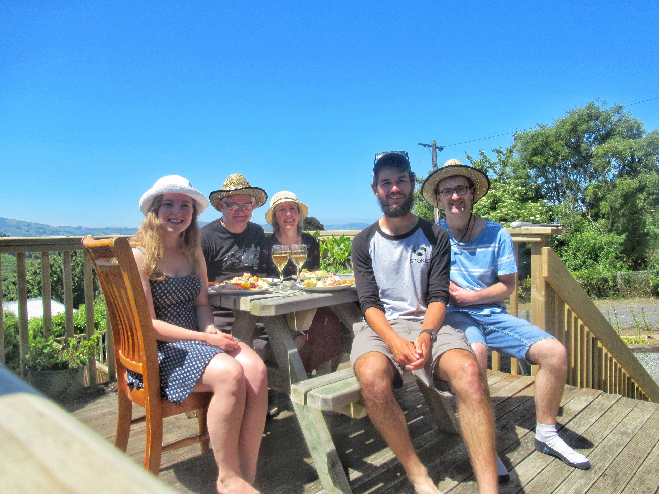Christmas Day 2018 with the Bremers, Dunedin