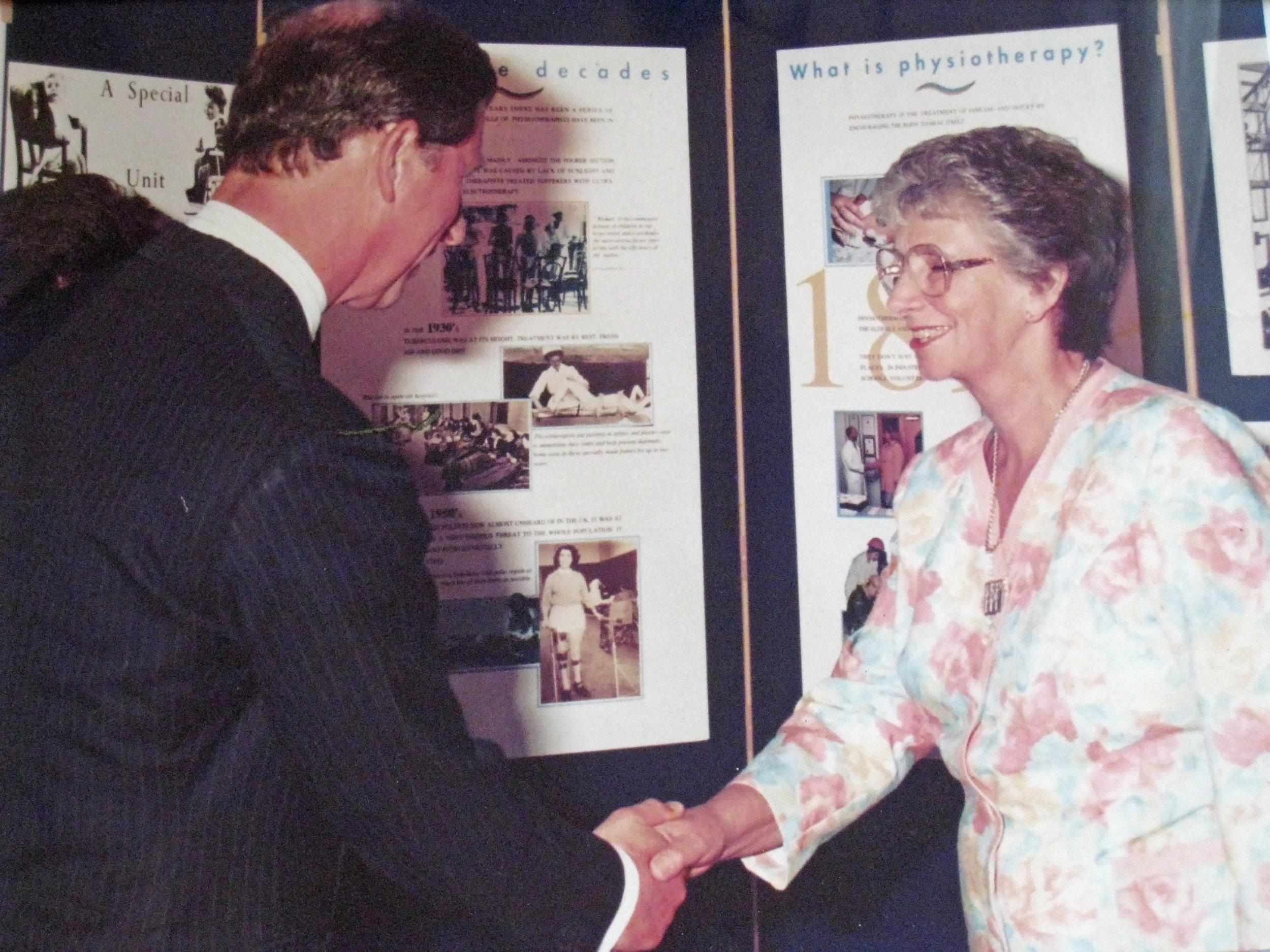 Margaret meets Prince Charles