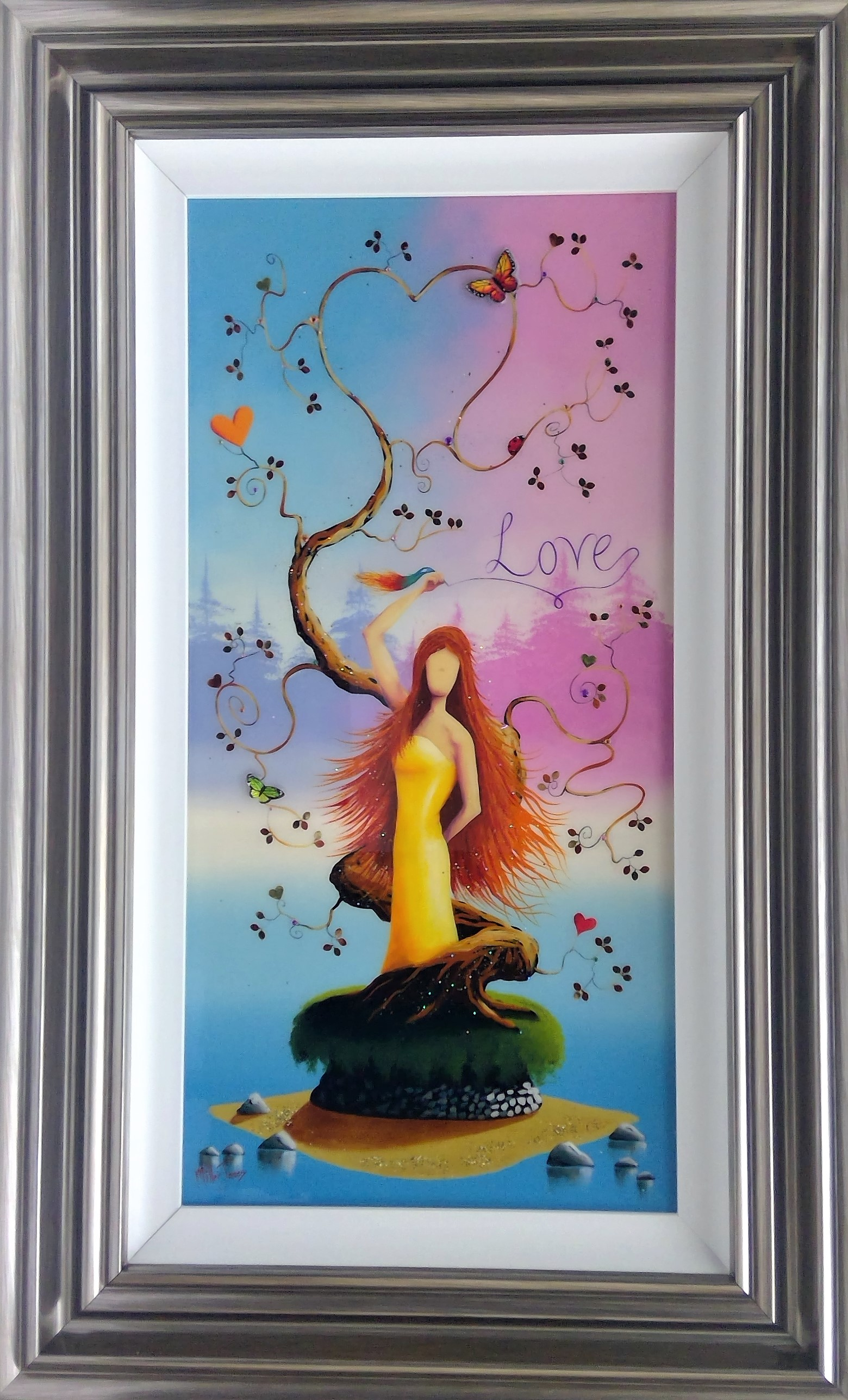 "'With Love' - Framed size 20""x32""Was £495NOW £250SOLD"