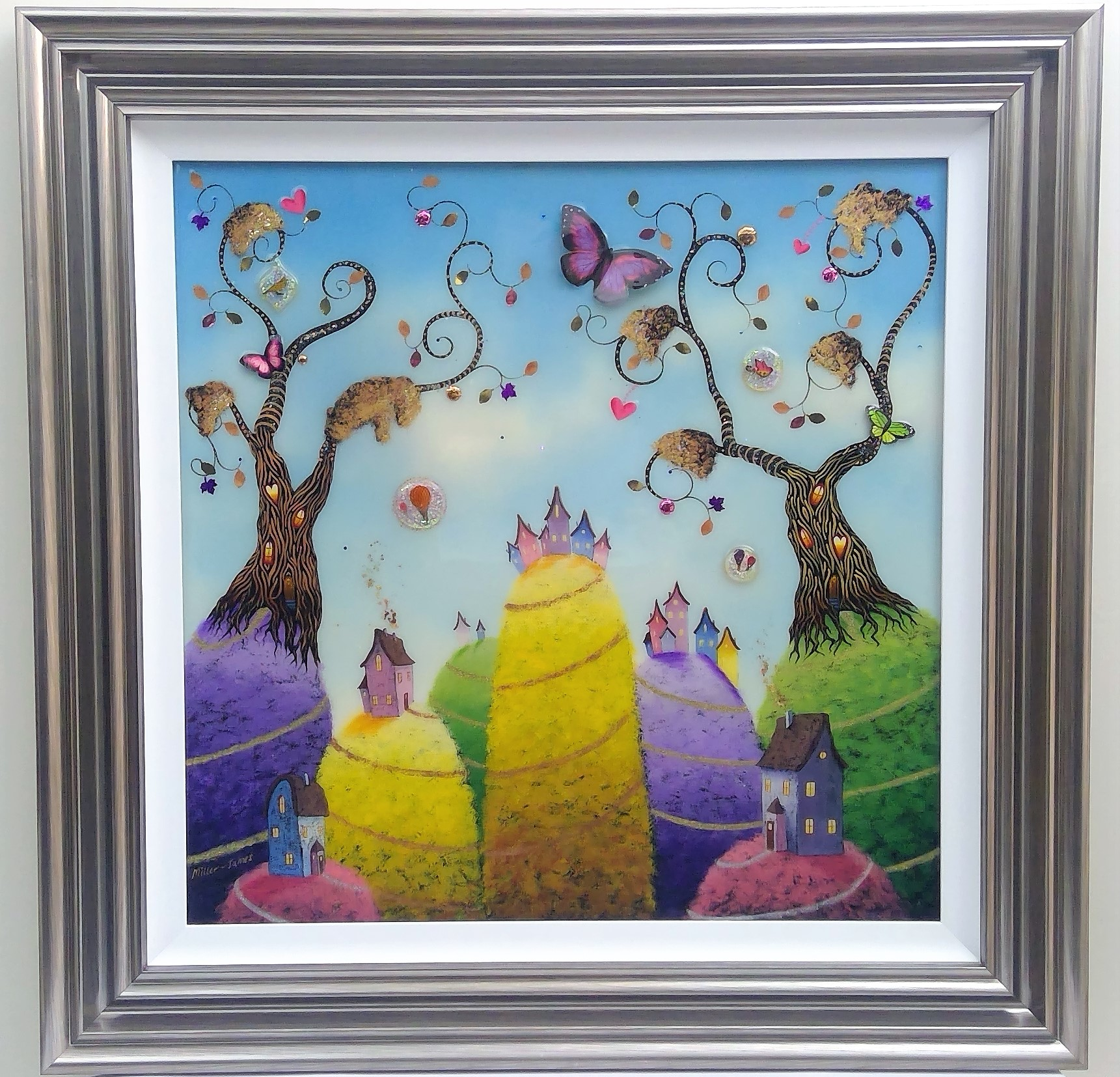 "'Homes of Love' - Framed size 32""x32""Was £520NOW £275SOLD"