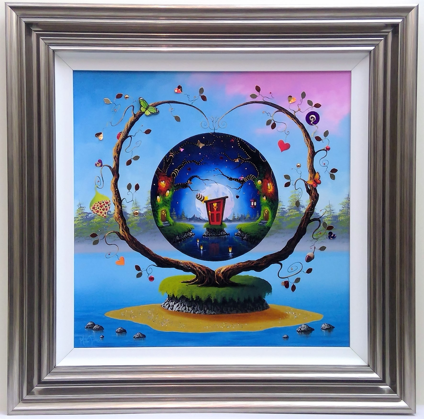 "'World's Within' - Framed size 28""x28""RRP £795NOW £395SOLD"