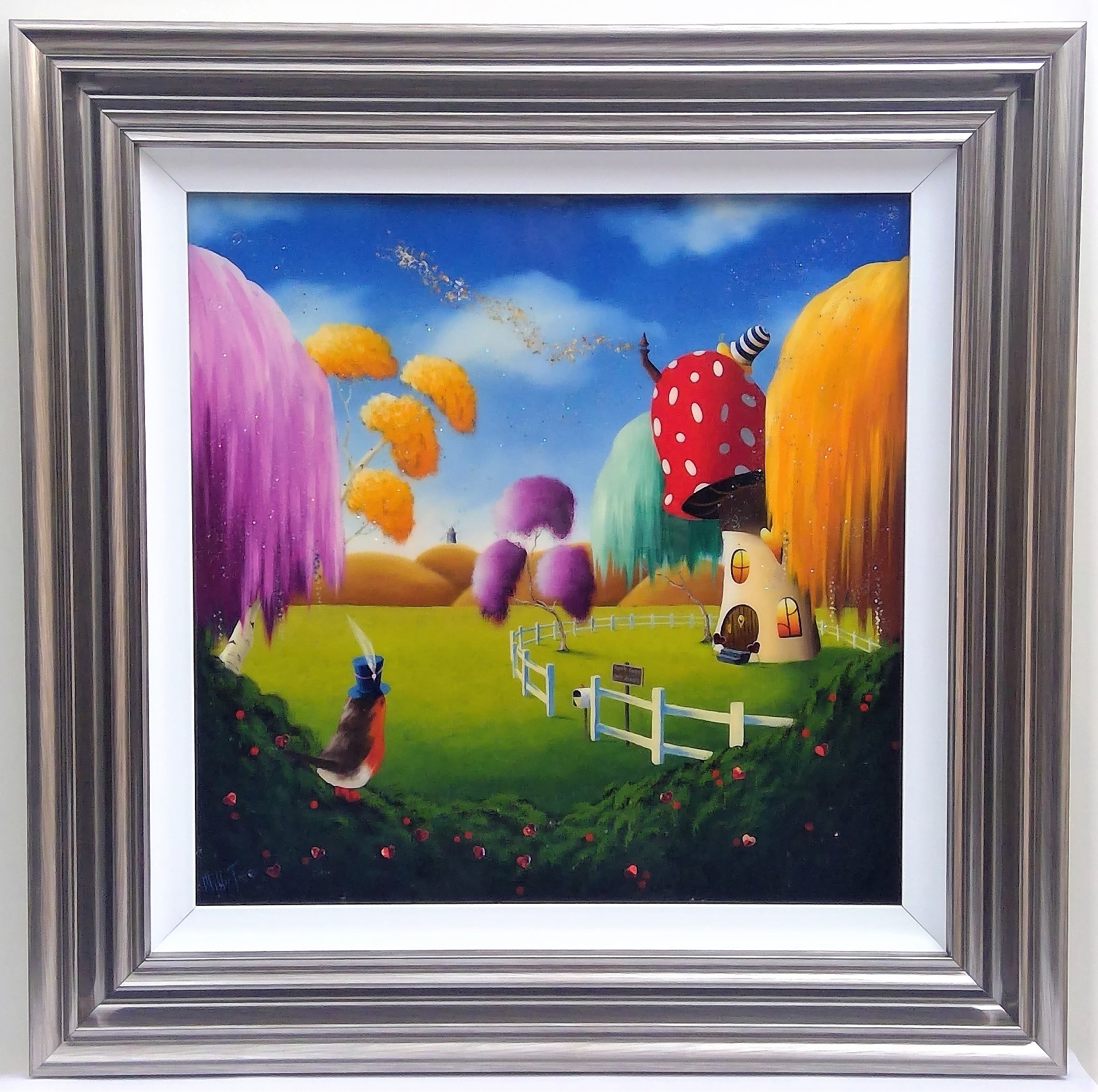 "'The Robins Rest' - Framed size 28""x28""Was £495NOW £250SOLD"