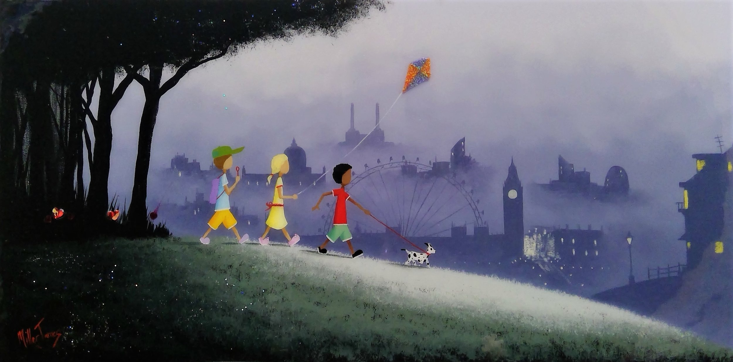 "3. 'London Adventure' - Framed size 20""x32""Was £360NOW £275SOLD"