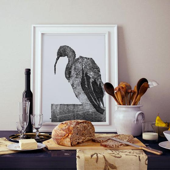 Ibis   monoprint