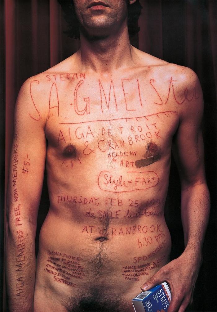 © Stefan Sagmeister, AIGA Detroit Poster (1999).