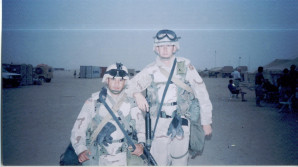 One of my new MET Alpha friends, SPC Peniche (after day of training)