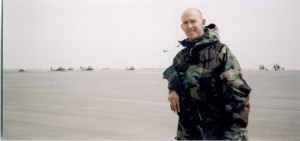 Just a portion of the massive airfield behind me (LOTS of Apache helicopters)