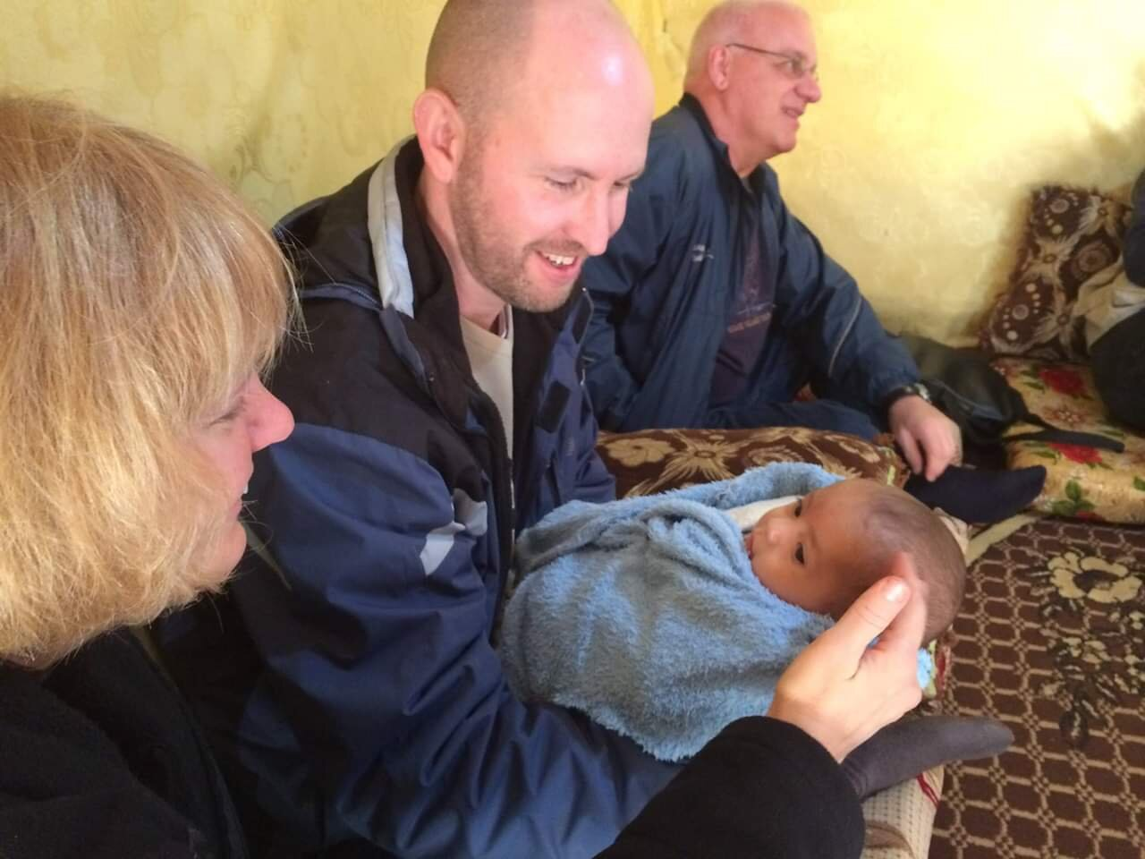Visiting a Syrian refugee family in the Beqaa Valley, Lebanon (January 2015)