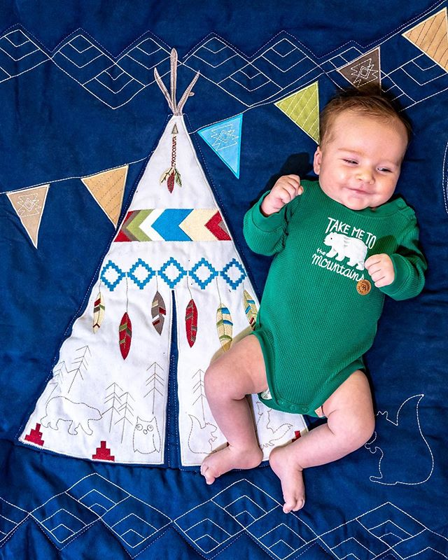 If I had known motherhood would be this magical, I wouldn't have waited so long to do it. I could spend a million lifetimes loving you. Thanks @nojobedding for River's favorite quilt! . . . . . . #baby #babies #babiesofinstagram #instababy #bebe #quilt #teepee #littleman #littledude #12weeks #motherhood #momlife #riverwalden #firstborn
