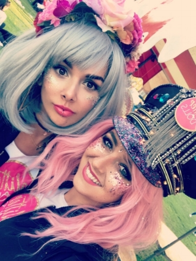 ABOUT US - Back in July 2017, two very good friends set off on a journey to glitter the nation!With a set of sparkling pots of glitter, a couple of wigs and a crazy look to boot; good friends Roxanne and Anissa started glittering Pride events and festivals in Cambridgeshire.Glitter Dolls can be found all over the UK and Europe spreading their glittery love!Hope to meet you soon!