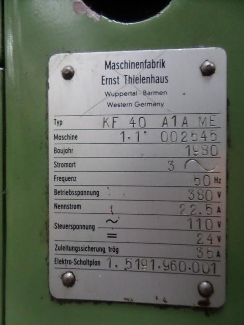 Thielenhaus KF 40 A1A Microfinishing Machine - Label