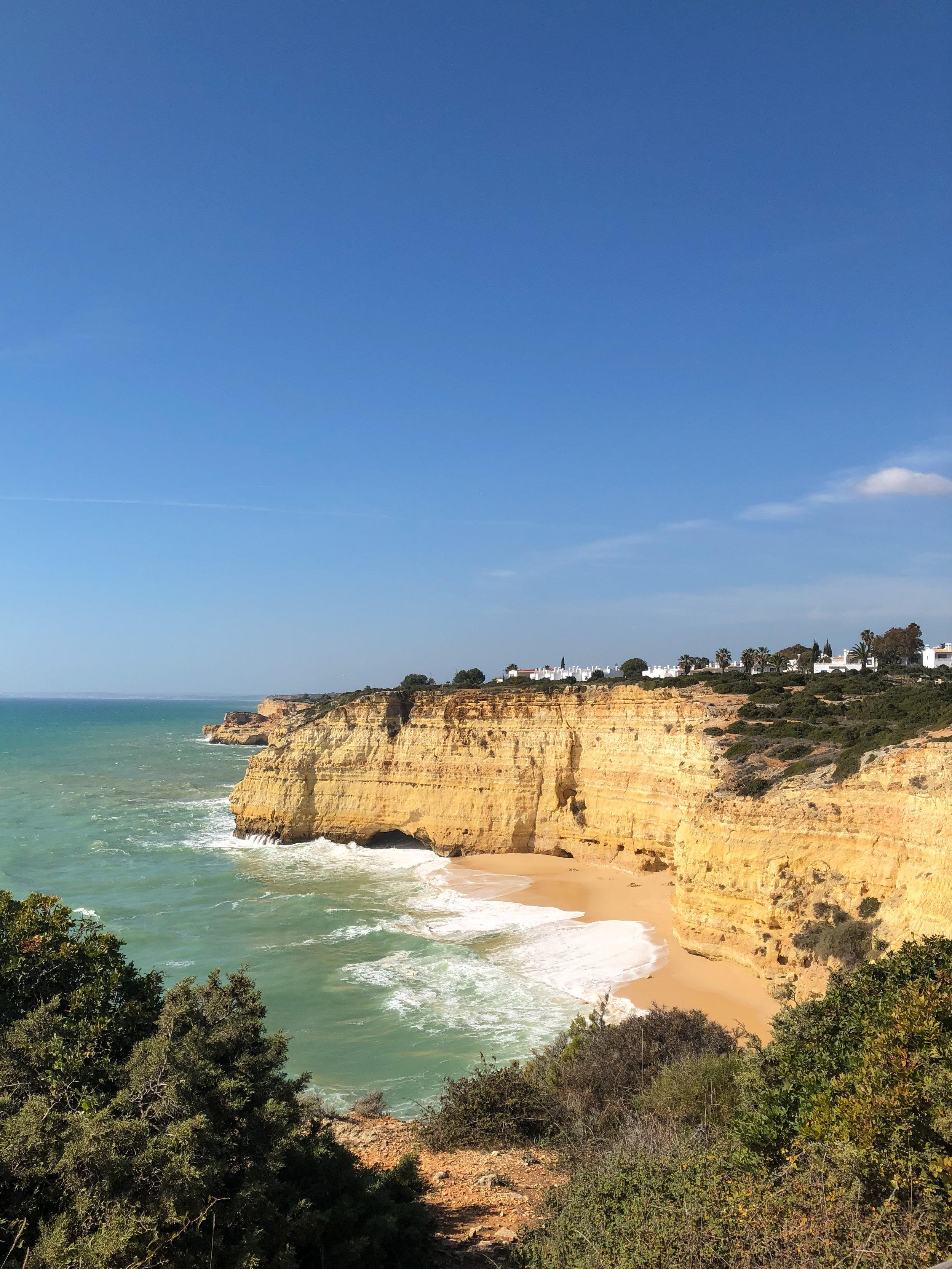 carvoeiro cliffs, portugal