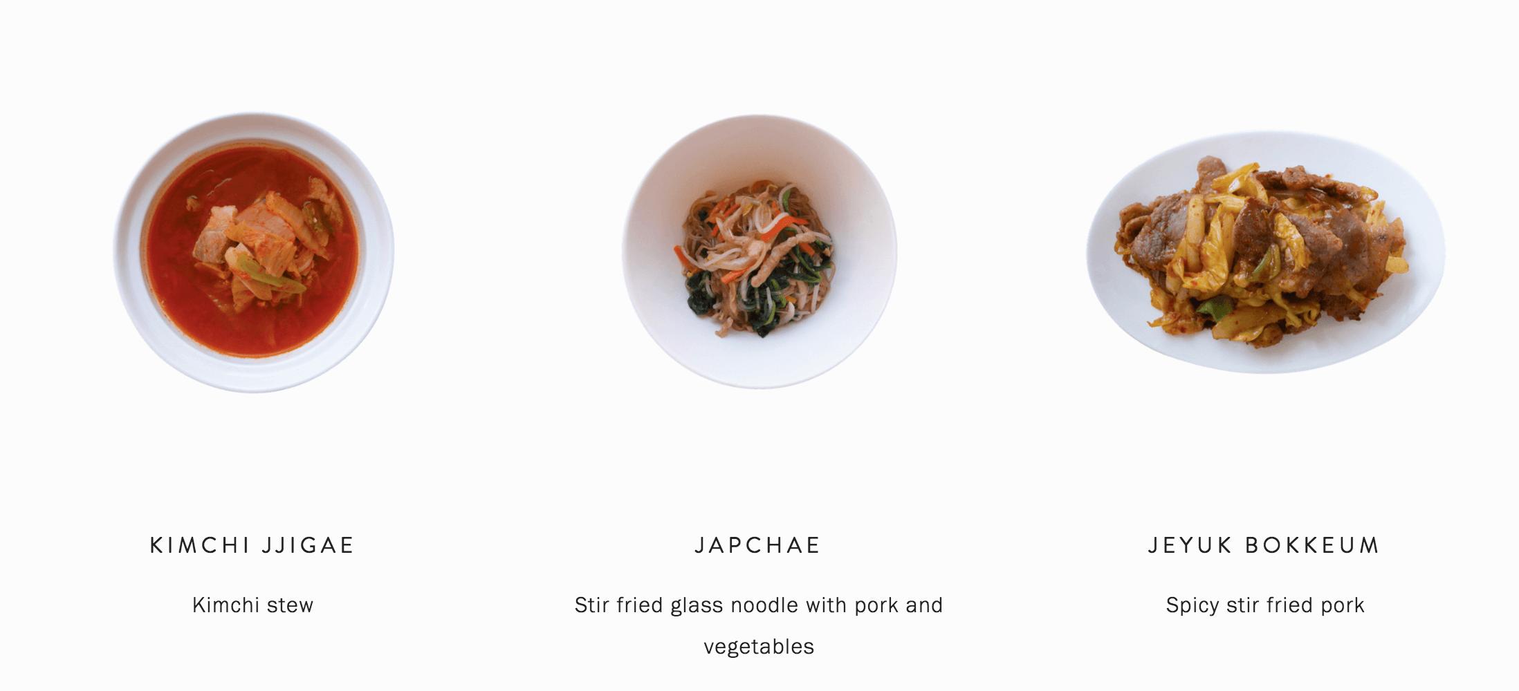 Cooking class in Seoul - Kimchi Jjigae (Kimchi stew), Japchae (Glass noodle), Jeyuk Bokkeum(Spicy stir fried port)