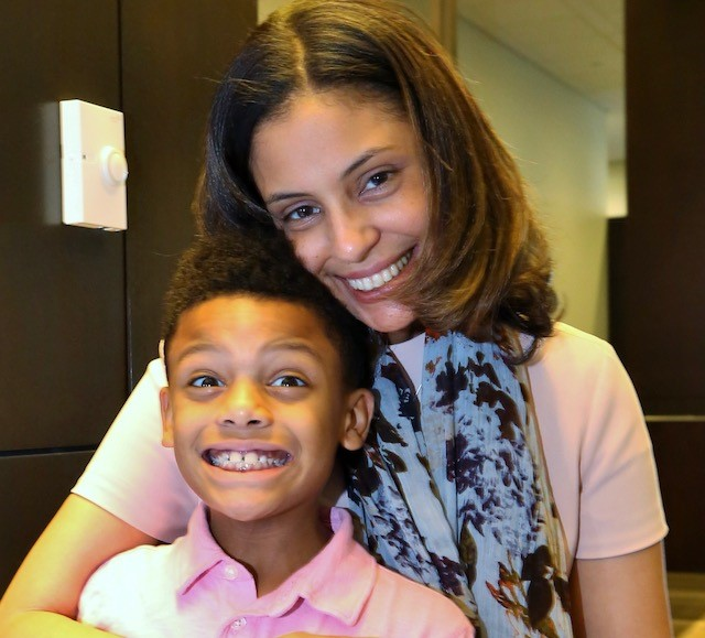Erika with her son Cole
