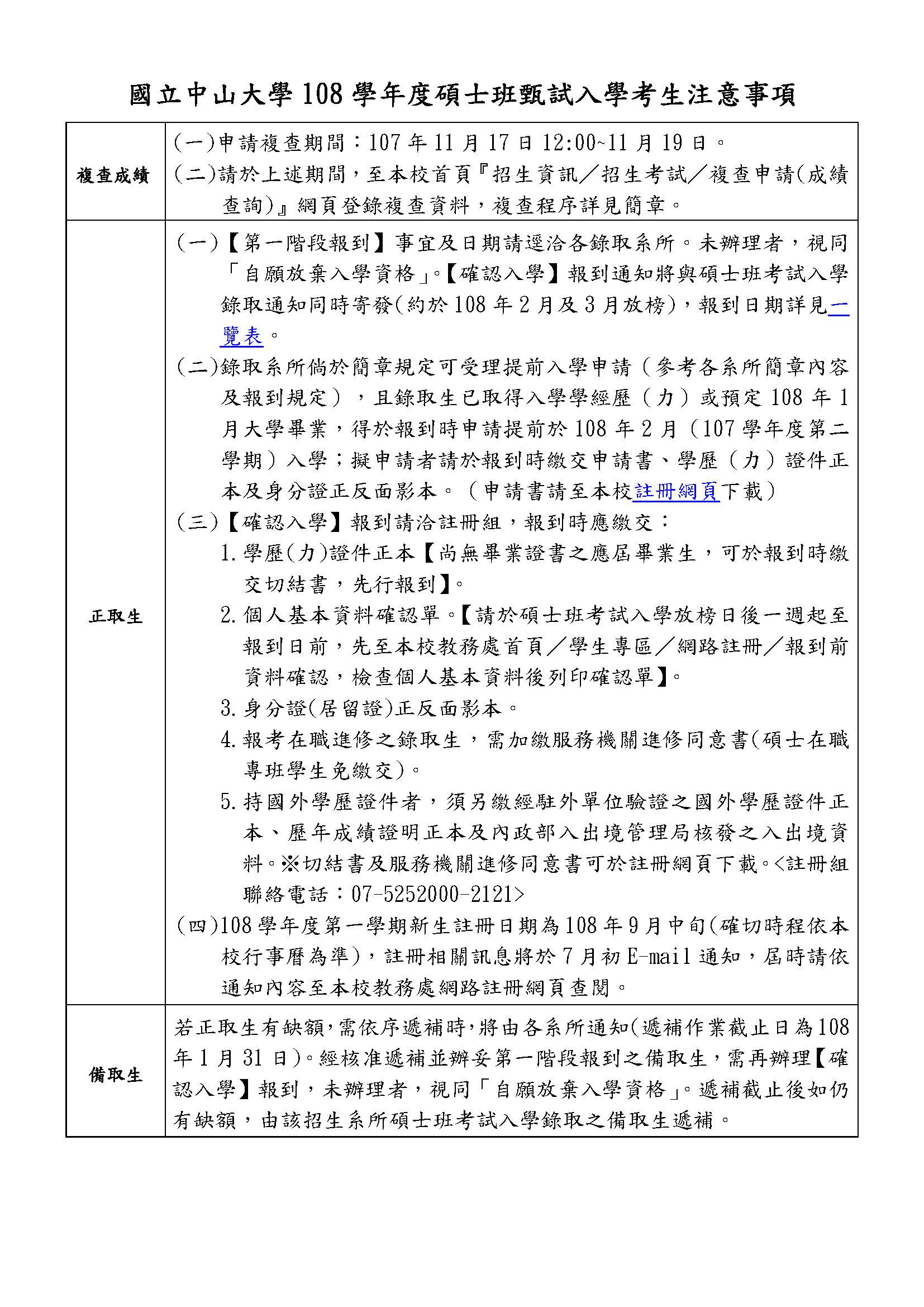 108學年度碩士班甄試入學考生注意事項1071030.jpg