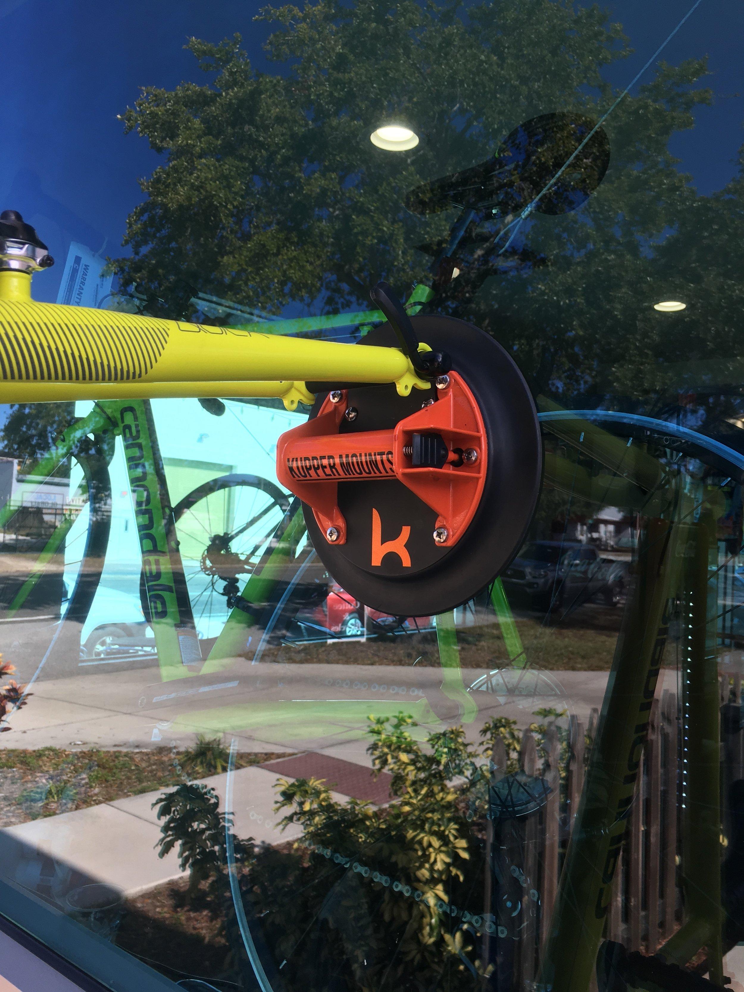 Kupper Mounts Bike Racks Can Used to Display Bikes on Outside Bike Shop Windows.JPG