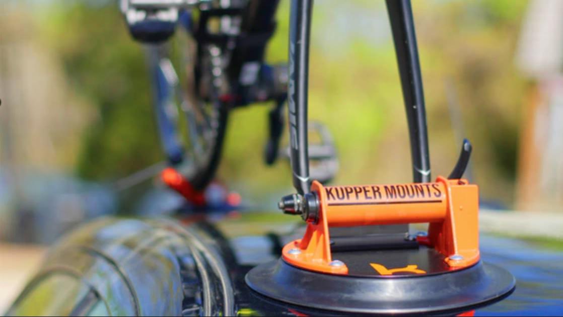 Kupper Mounts Close Up of Bike Rack on Car Rooftop.png
