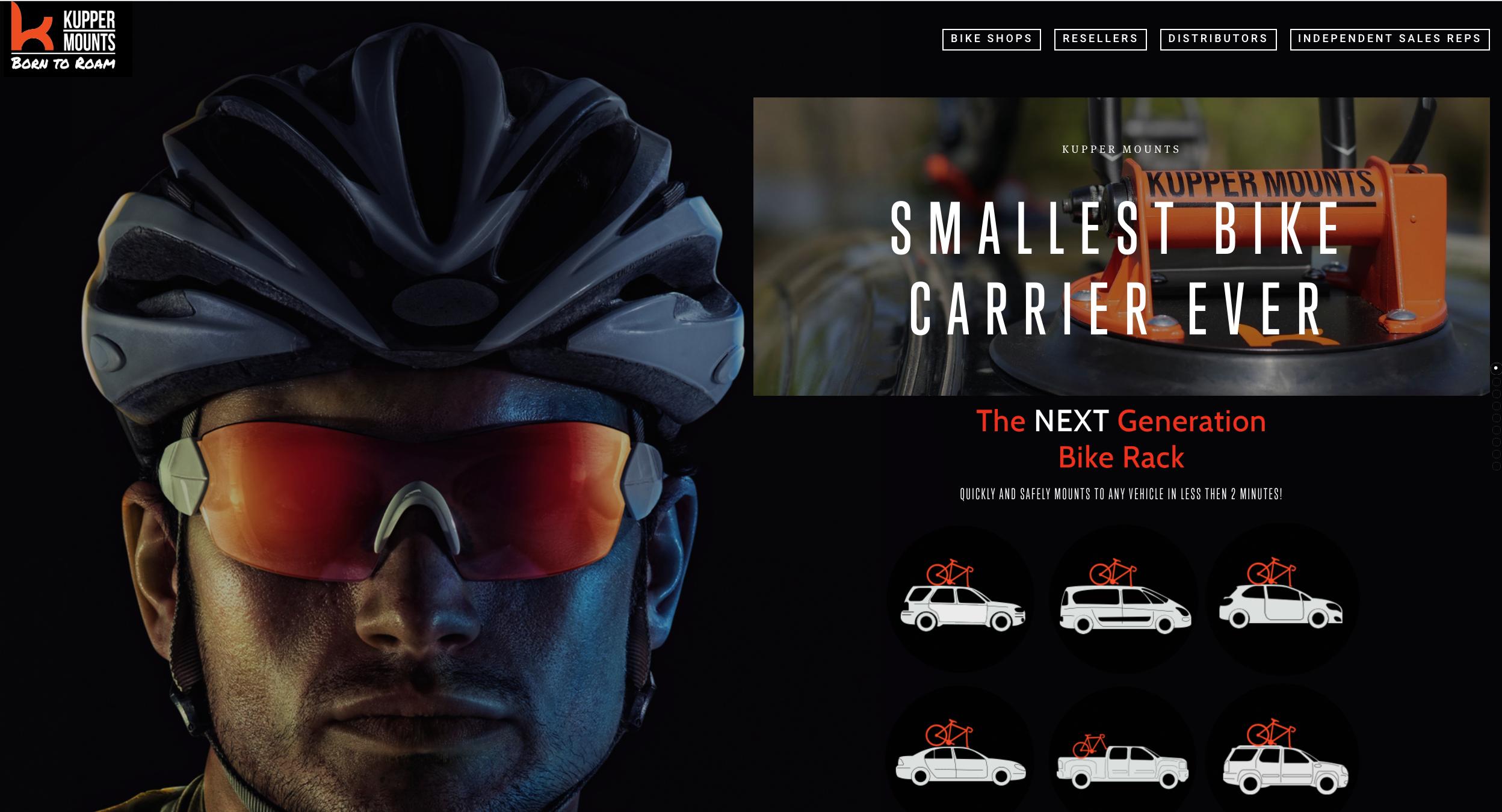 Kupper Mounts Black Bike Helmet.png