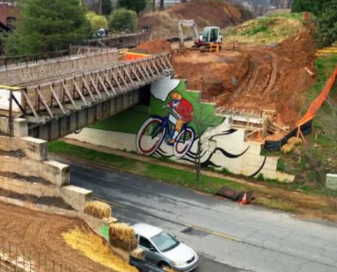 """The Beltline, as seen in 2012, is simultaneously hailed as a conduit for urban vibrancy or, as one GSU professor puts it now, the possible cause of """"racial resegregation of the city.""""Photo: Atlanta Beltline Inc. via  Face"""
