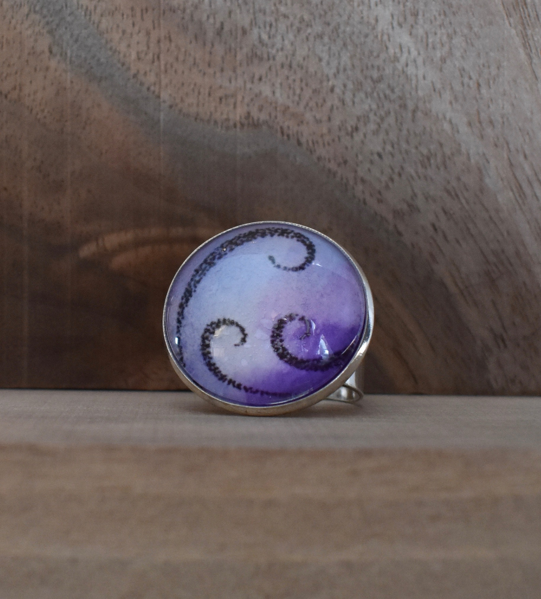 Purple Swirls Ring